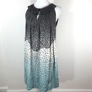 DVF Arbilla lead ombré printed halter dress